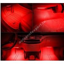 Влагозащищенная светодиодная лента для подсветки салона (Красная 5м)