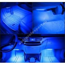 Влагозащищенная светодиодная лента для подсветки салона (Синяя 5м)