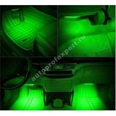 Влагозащищенная светодиодная лента для подсветки салона (Зеленая 5м)